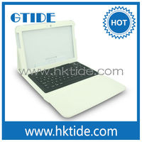 Gtide white color leather case bluetooth 3.0 silicone keyboard for ipad air turkish language