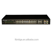 Industrial poe managed 24 port fiber switch OEM manufacture