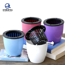 2018 preheat hot sale Beautiful small plastic flower pot buy direct