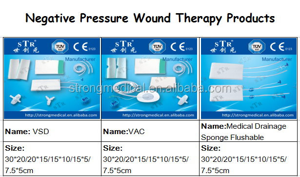CE VAC VSD wound dressing kit negative pressure wound therapy