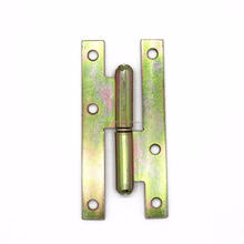 110x55mm H type hinge straight corner for doors with yellow zinc plated hinge