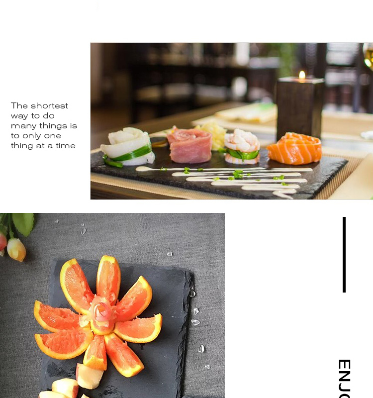 New Products Catering Plates Slate, Japanese Wedding Decoration Dishes And Plate