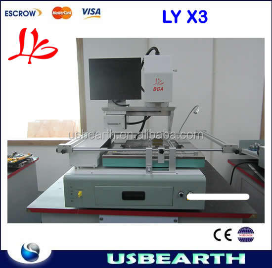 Automatic bga rework station with optical alignment system and color LCD screen CCD Camera bga rework station LY X3