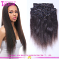 Hot selling Remy 165g 200g 220g yaki human hair extensions clip in