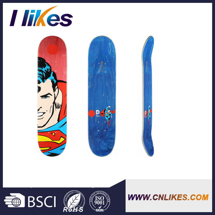 promotional 100 canadian maple wood skateboards