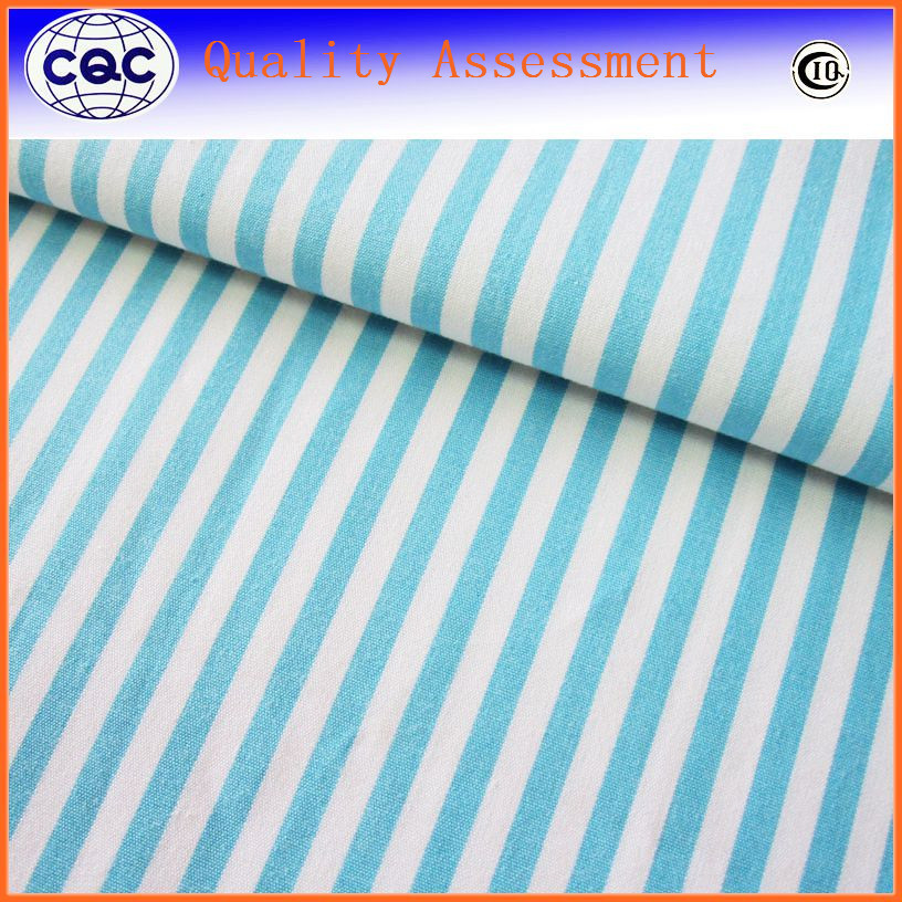 fashion fabric wrinkle free non iron for shirting trousers garment yellow white striped mercerised cotton