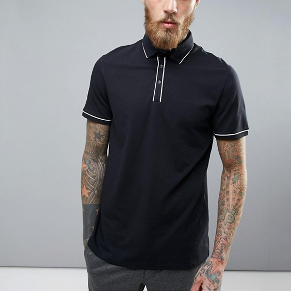 Men's clothing polo shirts wholesale china press-stud placket golf polo shirt dry fit
