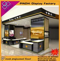 Modern design jewelry display kiosk jewellery display stand