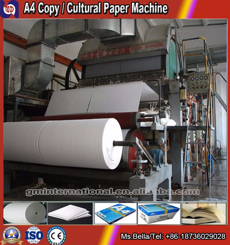small model waste paper recycling production line,writing A4 copy paper making machine