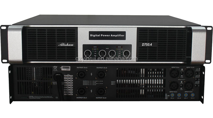 stereo digital karaoke amplifier 750watt 4channel class d digital power amplifiers manufacturers hotsale