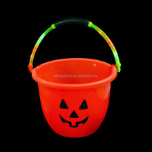 Halloween Party Supplies Plastic LED Pumpkin Candy Pails led halloween light up candy bucket candy bag for Kids