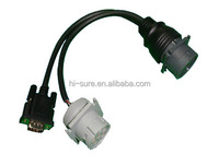Deutsch connectors round connectorJ1708 connector to db9P Y Cable for heavy duty truck diagnostic scan tool