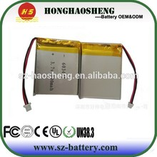 HHS lithium polymer battery 603443 3.7v 800mah rechargeable li-ion battery cells for digital photo frame