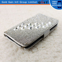 Luxury Diamond Bling Pu Leather Flip Case For Samsung Note 2