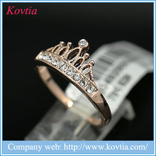 Wholesale fashion jewelry accessories latest gold ring designs crown crystal ring