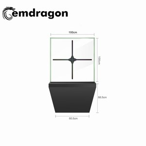 3d hologram 100 cm hologram display fan with SD card/WiFi indoor advertising equipment led monitor 3d hologram display 3d fan