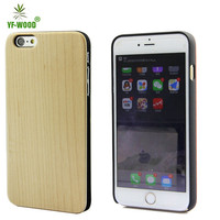 unfinished wood case for iphone 6 plus wood back cover
