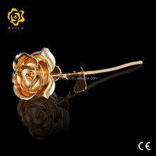 29cm metal flowers Pure Gold Rose with certificates The rose of Wedding Gifts