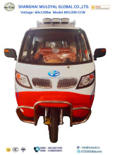 MotoShine MS1200-CCW Full Close Cabin Rickshaw Passenger Tricycles for Sale