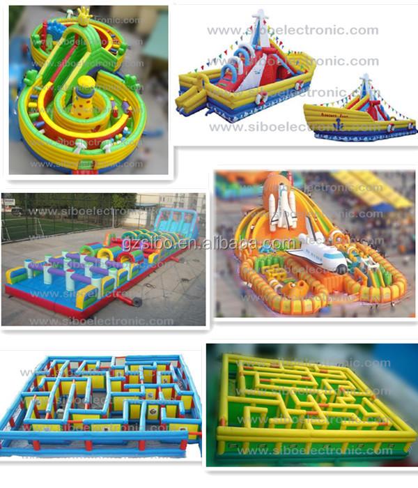 GMIF PVC Material and Castle Type laser maze for sale