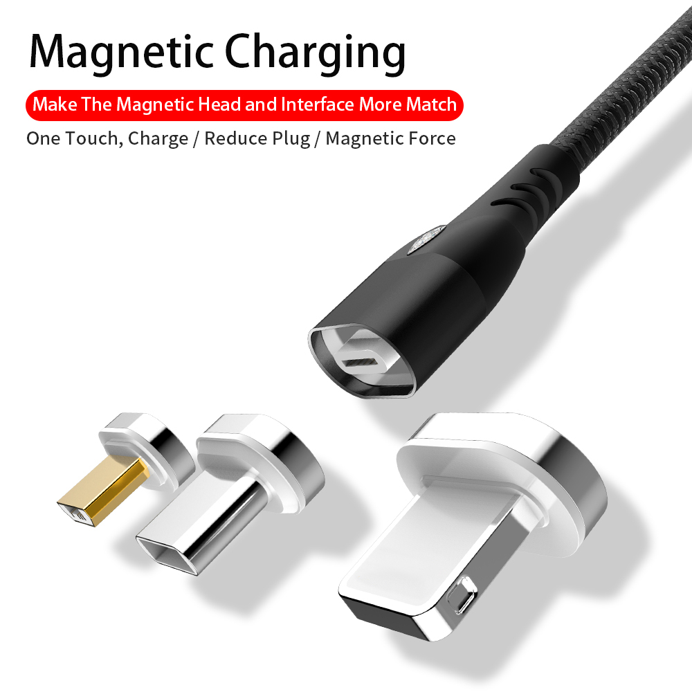 Max 3A special magnetic USB data cable for lower factory price in IOS and Android & Type-c