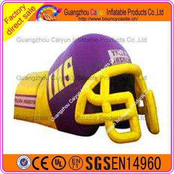 Helmet Channel Inflatable Tunnel Tent For Football Activities