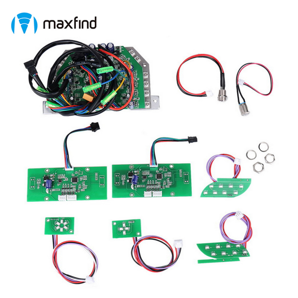 "complete set hoverboard repair parts mainboard sideboard charging port power swith for 6.5"" 8"" 10"" scooter"