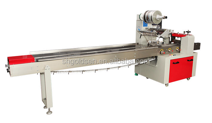 High speed Low cost automatic bread flow wrapping machine,bread bags packing machine wrapping