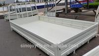 low flatbed full trailer for hot sale high teach chick insulated truck body for sale with high quality