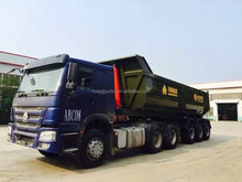 25m3 Heavy duty tipper semi trailer,3 axles dump truck trailer +86 13290241419