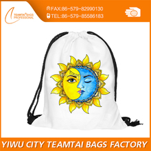 Newest Fashion Women Emoji Backpack 3D printing travel softback women mochila drawstring bag