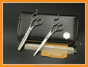Professional hair scissors kit made of SUS440C Japanese steel Popular scissors with bag