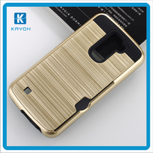 [KAYOH]2017 Hot Selling Dual Layer Shockproof Rubber With Credit Card Holding Case For LG K10