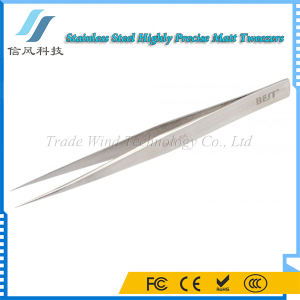 BST-AA Highly Precise Stainless Steel Pointed Eyebrow Tweezers