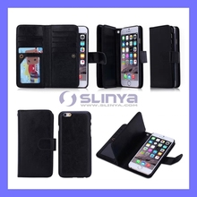 4.7Inch Flip Mobile Phone Cases Wallet Removable Leather Case for iPhone 6