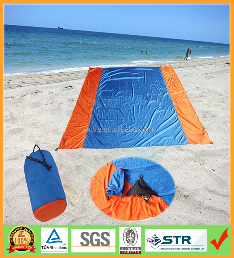 Ultralight Outdoor Sand proof Beach Blanket , Foldable Yoga mat China factory