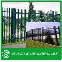 Top quality w profile steel palisade single spike fence