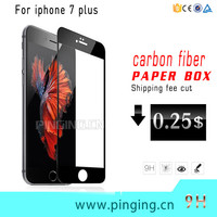 Premium Carbon Fiber 3D Curved Full Cover Tempered Glass Mobile Phone Screen Film For iPhone 7/7 Plus Screen Protector