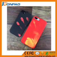 2017 newest desing thermal Induction Discoloration Mobile Phone Case
