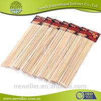 2014Hot Selling new food products market portable bbq set bamboo fruit sticks for food industry with design