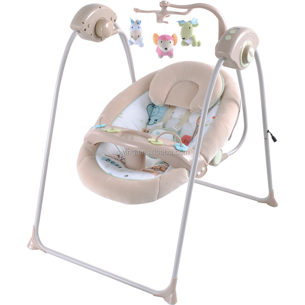 Swing for bebe with plastic frame toys and plastic shell seat