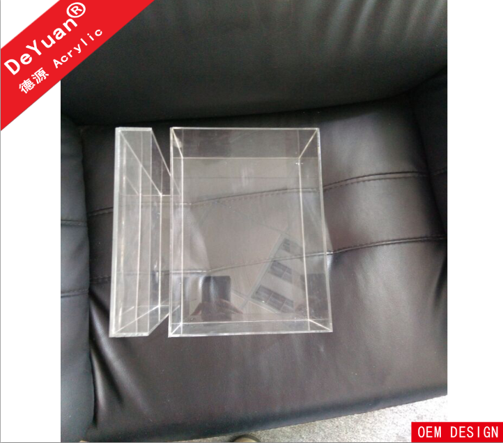 Clear 3mm acrylic shoe boxes / plexiglass shoebox