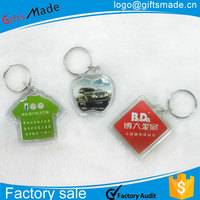 plastic key chain/spring key chain/hard plastic id card holder acrylic