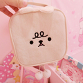 Cute Soft Plush Makeup Cartoon Cat Design Plush Cosmetic Bag