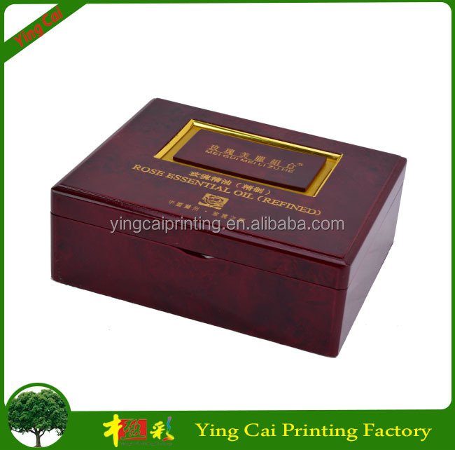 Custom Luxury Glossy Wooden Perfume Box