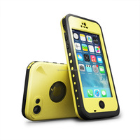 Waterproof case For Iphone 5C Shockproof Dirt Snow Proof Durable Case Cover Yellow