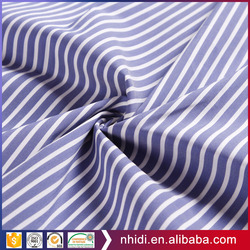 Fashion textile yarn dyed blue and white stripe fabric cotton poplin