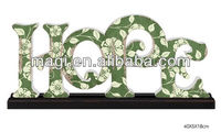 Colorful Table Decorative Wholesale Wood Letters