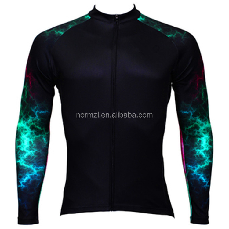 high quality breathable custom cycling clothing winter thermal wind and water- proof cycling jacket sublimated