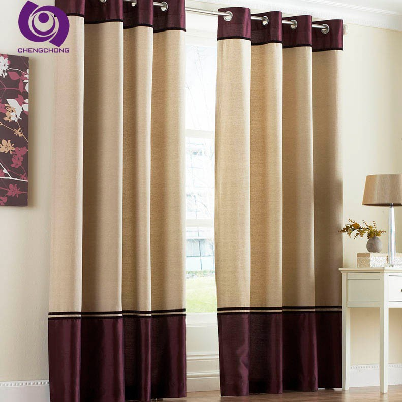 Hot Sale Top Quality Luxury Blackout Satin Hotel Curtain